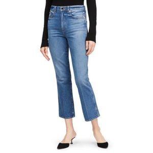 Khaite - Benny - high rise crop flare jeans